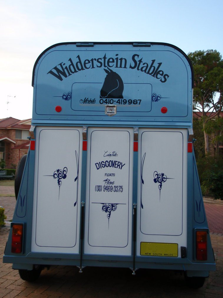 Widderstein stables Horse Float Back View